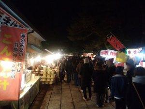 竹駒神社 休憩所前テント