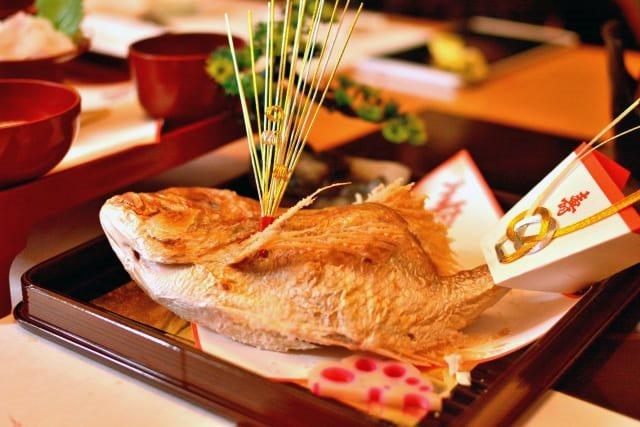 お食い初めの鯛のイメージ